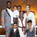 Antonio Brown and his wife with his children