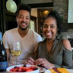 CJ McCollum with mother Kathy Andrews