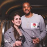 CJ McCollum with wife Elise McCollum image