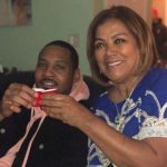 Carmelo Anthony and his mother Mary Anthony