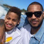 Carmelo Anthony and his son Kiyan Carmelo Anthony