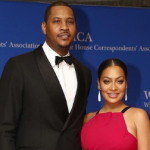 Carmelo Anthony and his wife La La Anthony