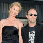 Connie Nielsen with former partner Lars Ulrich