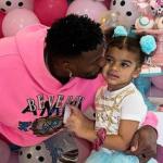 Emmanuel Sanders and his daughter Zoie Sanders
