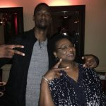 Harrison Barnes with mother Shirley Barnes