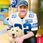 Jason Witten and his pet dog