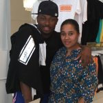 LeSean McCoy with sister Jeanette Haines