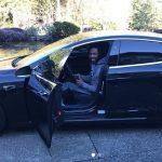 Richard Sherman and his car