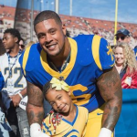 Rodger Saffold and his daughter