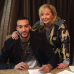 Rudy Gobert with his mother Corinne Gobert