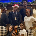 Sammy Watkins with his mother and siblings