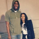 Thaddeus Young with wife Shekinah Young