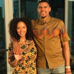Tobias Harris with fiance Jasmine