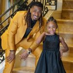 Tramon Williams with daughter Trinity Williams