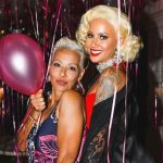 Amber Rose with her mother Dorothy Rose