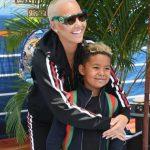 Amber Rose with his son Sebastian Taylor Thomaz