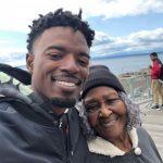 Dee Gordon with his grandmother Aran Riley Gordon
