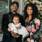 Dee Gordon with his wife and daughter