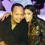 Edinson Volquez with his wife Roandy Volquez