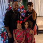 Edinson Volquez with his wife and kids
