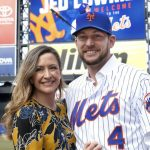 Jed Lowrie with his wife Milessa Lowrie
