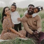 Jeff Green with his wife and daughters