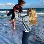 Kate Upton with his daughter Genevieve Upton Verlander