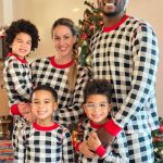 Lorenzo Cain with his wife and kids
