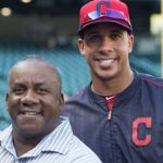Michael Brantley with his father Mickey Brantley