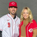 Mike Moustakas with his wife Stephanie Moustakas