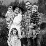 Mike Moustakas with his wife and kids