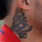 Yadier Molina right neck tattoo