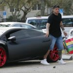 Yadier Molina with his Lamborghini car