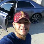 Yadier Molina with his Rolls Royal car