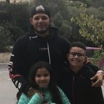 Yadier Molina with his son and daughter