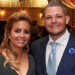 Yadier Molina with his wife Wanda Torres