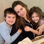Alyssa Milano with her children