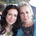 Alyssa Milano with her mother Lin Milano