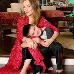 Alyssa Milano with her son Milo Thomas Bugliari