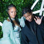 Asap Rocky with his girlfriend Rihanna