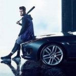 Bryce Harper with his black car