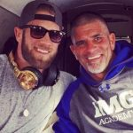Bryce Harper with his father Ron Harper