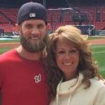 Bryce Harper with his mother Sheri Harper