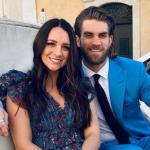 Bryce Harper with his wife Kayla Varner