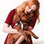 Christina Hendricks with her pet