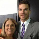 Chris Davis with his mother Karen Davis