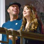 Dakota Johnson with boyfriend Chris Martin