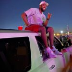 Dexter Fowler with his Range Rover Car