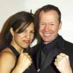 Donnie Wahlberg with his ex-wife Kimberly Fey