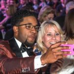 Elvis Andrus with his mother Elvia Andrus